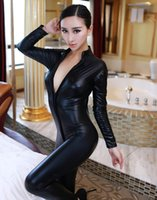 Wholesale Siamese patent leather corset queen fitted sack suit uniform temptation sexy lingerie nightclub performances