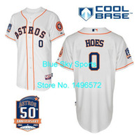 astros baseball team - 30 Teams Houston Astros Jersey L J Hoes Jersey White with th Patch Cool Base Shirt Stitched Baseball Jersey