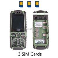 Wholesale 6800mAh Battery Bar Long standby Big Voice Three Cards Dual Bands GSM CDMA Power Bank Flashlight FM cell mobile phone C9 P116