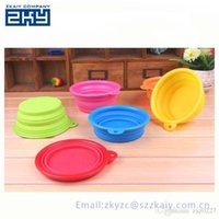 Wholesale Fashion Silicone Pet Bowl Dog Bowl Pet Dishes Collapsible Dog Bowl Cat Bowl At Home Outside
