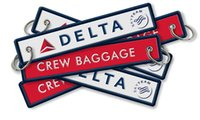 airline delta - Delta Airlines Crew Baggage Tag Luggage Flag Address ID Tag x cm