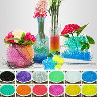 water beads for wedding - 2015 New Crystal Soil Water Pearls Gel Jelly Balls Beads For Wedding Decoration Water Pearls Jelly Ball Centerpieces