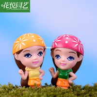 assembly long - mini microlandschaft cute craft Long moss micro landscape ornaments DIY assembly sister with big eyes small ornaments toys