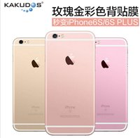 Wholesale For iPhone s plus decal sticker Full Body Wrap Decal Sticker colorful DHL free