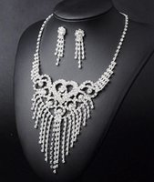 Cheap New charms statement necklaces Best chain Crystal pave necklace sets