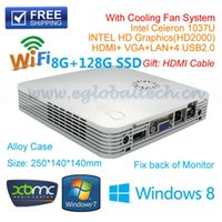Wholesale GB DDR3 RAM GB SSD with cooling Fan V6 C1037U Aluminium Celeron U GHz Dual Core thread Motherboard HDMI P