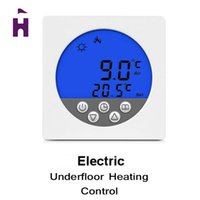 Wholesale Big Promotion Weekly Programming Blue Backlight Digital LCD Display Hot Warm Floor Heating Thermostat Temperature Controller
