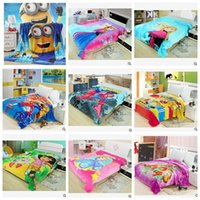animal print flannel fabric - 19 colors CM kids despicable me minion blanket cartoon coral fleece blanket baby flannel fabric x200cm super soft air condition