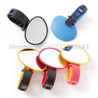 Wholesale New High Quality Universal Bicycle Cycling Handlebar Rearwiew Convex Mirror Rotate order lt no track