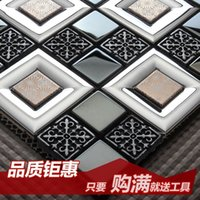 Wholesale Jasmine modern metal stainless steel mosaic tile living room entrance backdrop mirror puzzle Wall Stickers