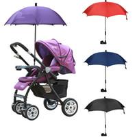 baby stroller parasol - Cute Baby Pram Pushchair Umbrella Anti UV Sunshade Parasol Bicycle Bike Stroller Chair Can Adjustable For BabyStroller