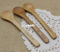 baby wooden spoons - New Arrive Japanese Korean Tableware Handle Coffee Wooden Spoon Honey spoon baby Feeding