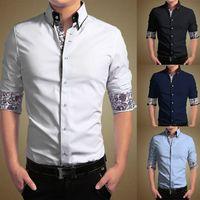 Wholesale High Quality New Mens Luxury Casual Stylish Slim Fit Print Dress Shirts Size M L XL XXL XXXL XL Men s Clothing