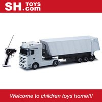 dump truck - New R C CH plastic RC dump trailer truck with lights and sounds SH1101C_W