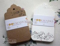 Wholesale Scallop Blank Cardstock price swing Tag Retro Gift Hang tag Kraft paper gift card tag bookmark label Hang tag