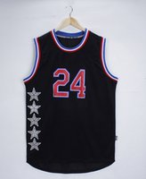 Wholesale 2015 USA basketball clothes wholesales Kobe Stephen Kevin Blake s jersey black and white color sports shirt basketball wear hot sale