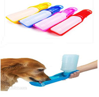 Wholesale Hot dogs and cats in pet dogs and cats to go out drinking ml Travel portable Drinking fountains blue red pink