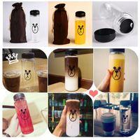 Wholesale Korea Style Newest Design Portable Clear Bottle Outdoor Sport Bicycle Brown Bear Fruit Lemon Juice Water Cup