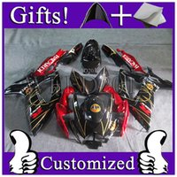 ABS bacardi black - ABS Fairing for SUzuki GSX R GSXR600 black and red fairings BACARDI