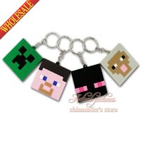 Wholesale Hot game MC minecraft keychains Action Figure cartoon Keychain Keyring Key Ring Cute key chain Hanging Accessories Gift
