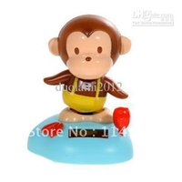 Cheap Wholesale-Good!Wholesale - Solar Power Head Shaking Monkey Doll Toy