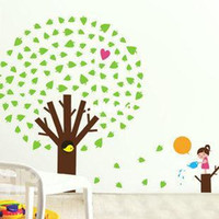 apple live tv - wall stickers home decor Specials removable wall stickers living room TV backdrop stickers bedroom wall wallpaper apple tree JM7120
