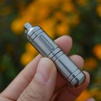 Wholesale 58mm Outdoor Titanium Survival Container Waterproof Battery Case Pill Capsule Case Keyring Pendant