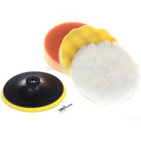 Wholesale 2015 Hot in quot mm Car Polishing Buffing Pad set for Car Care with Drill Adaptor M14