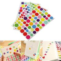 Wholesale 6 Sheet Colorful Rainbow Sticker Diary Planner Journal Scrapbook Albums Photo DIY Decor Decal Stickers