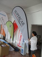 banner poles - teardrop banner mm from bottom to top water bag cross basement pole double sided printing by DHL