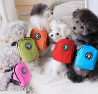 Wholesale 5PCS xq044 Colorful Fashion Pet Supplies Products Dog Bag Backpack Harness Vest With Leash Cute More Colors New Arrival