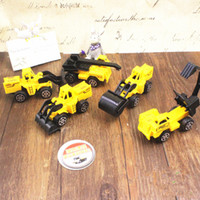 trucks - Sample Order set Yellow Truck Car Model Toys Plastic Mini Construction Trucks Christmas Gift For Kids S30208