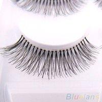 Wholesale 5 Pairs Natural Sparse Cross Eye Lashes Extension Makeup Long False Eyelashes