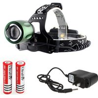 ac focus - CREE XM L T6 LED Mode Rotating Telescopic Focus Adjustable Zoom Headlamp Headlight with USB Charging Cable AC Charger x battery