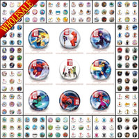Wholesale Free DHL Express Hot Cartoon Logo Buttons Pin Brooch Badges CM Diameter Decorate Clothing Bags Party Supplies Gift