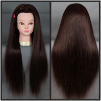 Wholesale Quality Mannequin Head High Temperature Hair Fiber Training Female Model Head With Hair