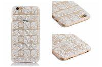 Henna Paisley floral blanco mandala de la flor de plástico duro cajas del teléfono celular para Samsung S6 para iphone 6 4,7 5 5G 5S 6plus 5.5