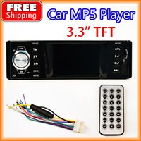 Wholesale 3 quot Inch TFT Screen Car MP5 Player HD Stereo V FM Radio V Charger MP3 MP4 Audio Video USB SD AUX DIN order lt no