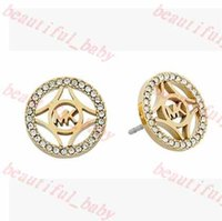 Wholesale 2015 New Desginer Fashion European and American Big Imitate Diamond Stud Earrings