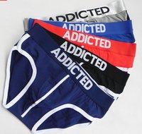 boxer briefs - New Arrived Men s Colors Underwear Mens Cotton ADDICTED Boxers Briefs S M L XL Mixed Order