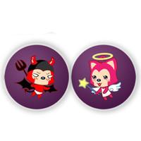 Wholesale Customize Pin Button ID Badge Plastic And Metal Bottom Badage Reel Custom Photos Logo Words Freeshipping