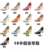 ladies high heel shoes - In the spring of Autumn new candy color horseshoe shaped with fashion pointed mouth shallow lady high heeled shoes