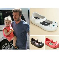 Wholesale mini melissa russy cat baby ploughboys hole shoes sandals slippers waterproof soft slip resistant outsole