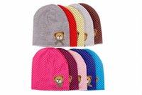 beanie babies bears lot - 10pcs cute bear baby cap Kids hats Cotton Beanie Infant hat children baby hat