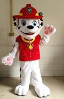 2015 Nouvelle arrivée AM0621 Cartoon adultes patrouille de caractères Marshall Dog Mascot Costume, Robe de soirée