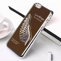 Wholesale 3D Eagle Hawk Wing Eiffel Tower Statue of Liberty Mirror Electroplated Aluminum Chrome Hard Metal Cover Case for iphone