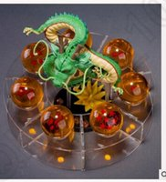 Wholesale 2 color PrettyBaby Dragon ball z toy action figures New Dragon ball figures crystal balls cm PVC balls shelf KKA36