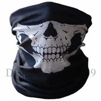 Wholesale hot NEW CS Cosplay Ghost Skull Black Face Mask Motorcycle Biker Balaclava Call of Duty Windproof mask Skiing sport masks