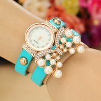 batteries pearl - sale promotion New arrival women s butterfly accessories quartz bracelet watch with rhinestone pearl high quality