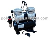 Wholesale off per order New Dual Action HP Airbrush Compressor Portable Oilless DH196